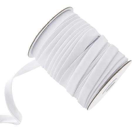 Pandahall Double Fold Bias Tape 5//8 Polyester Satin Ribbon Black Bias Tape for Sewing Seaming Pre-Folded Binding Hemming Piping Quilting Handmade Craft 87Yards Long 15mm