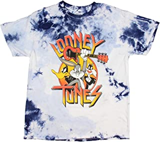 Looney Tunes Men's Daffy Duck Bugs Bunny Sylvester Tie Dye Licensed Adult T-Shirt Shirt