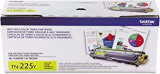 Brother Genuine High Yield Toner Cartridge, TN225Y, Replacement Yellow Toner, Page Yield Up To 2,200 Pages, Amazon Dash Re...