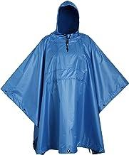 Poncho militar USGI Industries – Tienda de emergencia, refugio, multiuso Rip Stop Camo Survival Rain Poncho