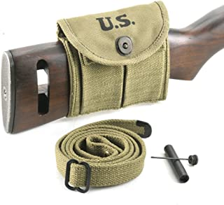 World War Supply M1 Carbine Sling, Oiler, Buttstock Pouch Lt. OD Marked JT&L 1943