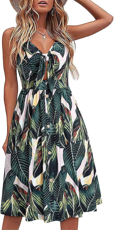 KEVENI Women's Summer Casual Dresses Beach Party Dress (NO.B)