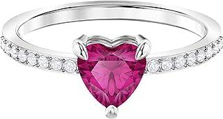 Swarovski Women's Red Rhodium plated One Heart Ring Size 50 5474942