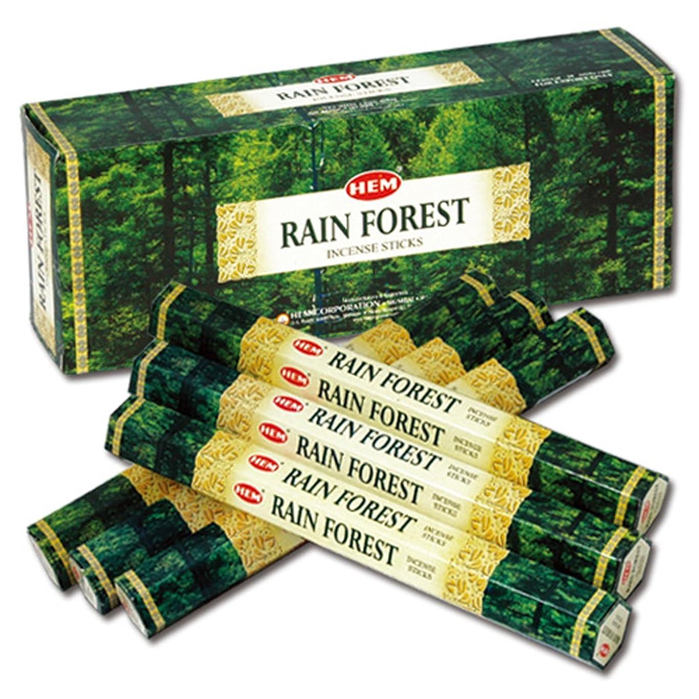 見落とす引退する穀物HEM(ヘム) レインフォレスト RAIN FOREST スティックタイプ お香 6筒 セット [並行輸入品]