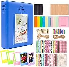 DragonPad 2x3 Inch Photo Paper Film Album Set for Instant Camera, Polaroid Snap, Z2300, Social Matic Instant Cameras & Zip Instant Printer Cobalt Blue