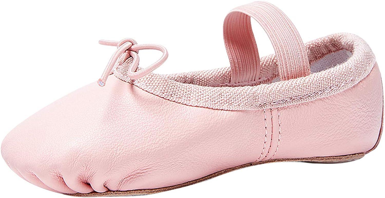 Stelle Girls Premium Leather Ballet Shoes Slippers for Kids Toddler