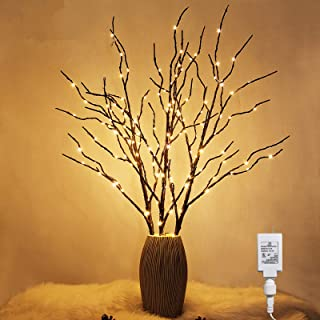Twinkle Star 150 LED Lighted Brown Willow Branches 32 Inch 3 Pack Artificial Branches Plug in for Indoor Outdoor Christmas...