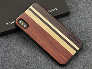 SpaceForm Apple iPhone 7 Plus/8 Plus Wood Back Phone Case with Tactile Buttons Lumber