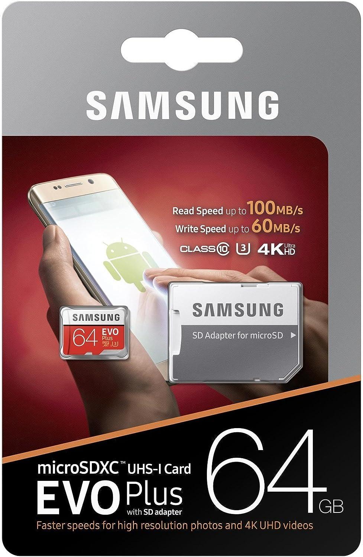 Samsung 64GB MicroSD XC Class 10 UHS-3 Mobile Memory Card for Samsung Galaxy C9 C7 C5 Pro Xcover 4 J1 Mini Prime J3 Emerge with USB 3.0 MemoryMarket Dual Slot MicroSD & SD Memory Card Reader
