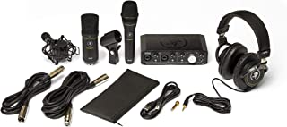 Mackie Producer Bundle with Onyx Producer interface, EM89D dynamic mic, EM91C condenser mic and MC-100 headphones.