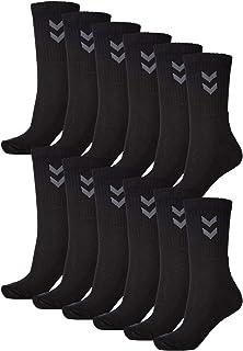 Hummel, Calcetines deportivos unisex básicos – 12 unidades I Negro 41/45
