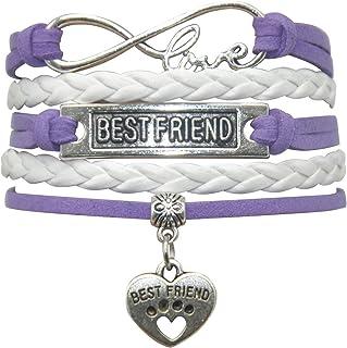 HHHbeauty Best Friend Friendship Bracelet Leather Infinity Love Friendship Gifts Best Friend Bracelets for Women, Men, Gir...