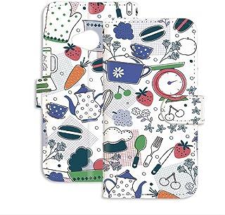 スマホケース 手帳型 ミラータイプ Y!mobile Android One X2 用 キッチン・北欧デザイン かわいい 北欧柄 クッキング ワイモバイル アンドロイド SIMフリー スタンド スマホカバー 携帯カバー kitchen 00l_...