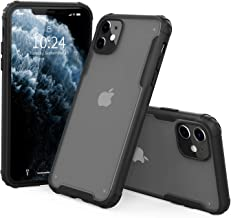 """I STRIVE Heavy Duty Military Grade iPhone 11 Case -Matte Translucent - Phone Armor - Shock/Shatterproof - Slim - Hybrid Materials - Wireless Charging - Compatible with iPhone 11 6.1"""" (Black)"""