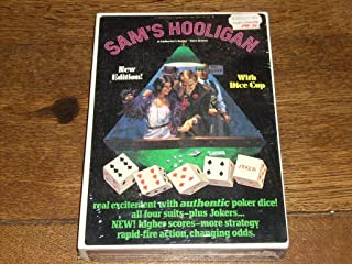 SAM'S HOOLIGAN - A Collector's Series Dice Game with authentic poker dice! New Edition! With Dice Cup. 1975 No. D100. A challenging game said to have been developed during the 30's by a disreputable crapshooter from Chicago.