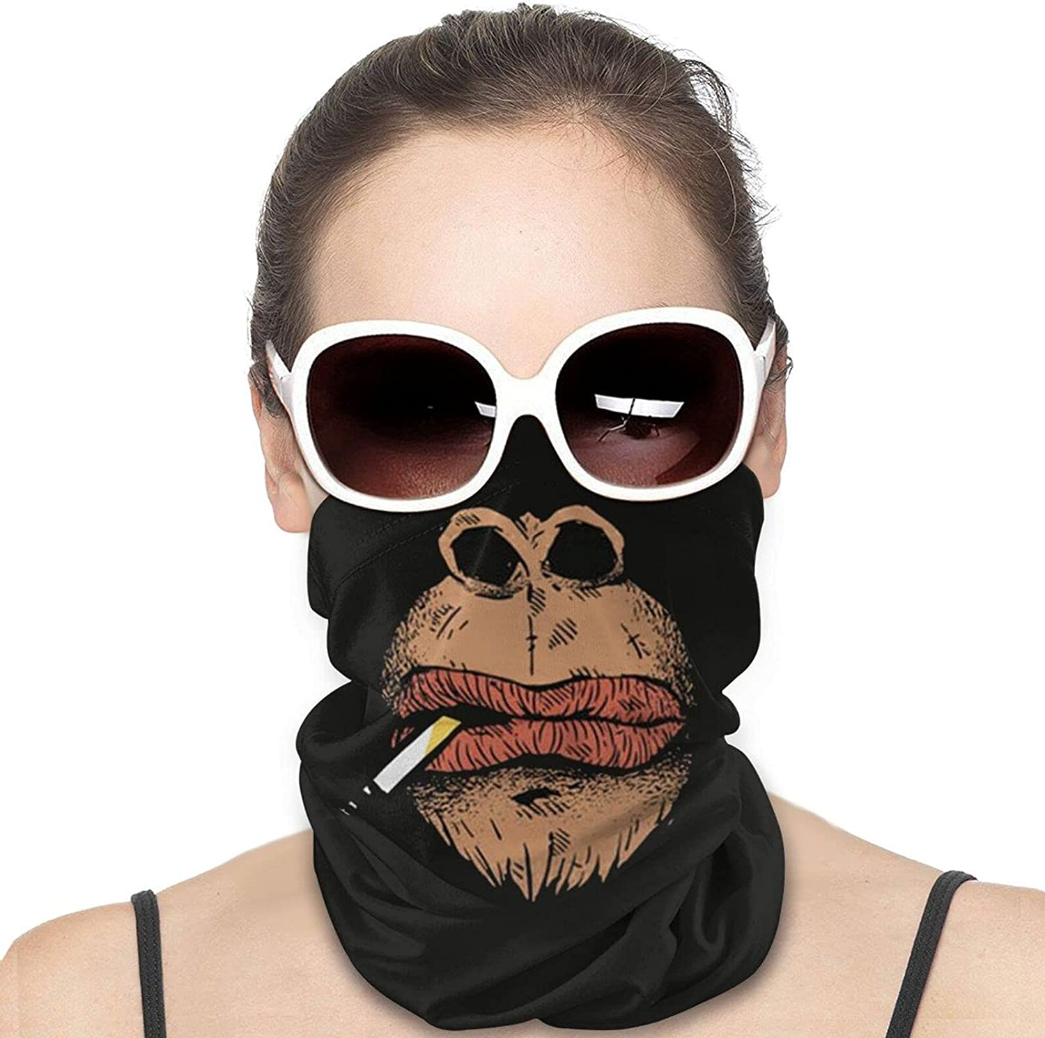 Gorilla Face Smoke Round Neck Gaiter Bandnas Face Cover Uv Protection Prevent bask in Ice Scarf Headbands Perfect for Motorcycle Cycling Running Festival Raves Outdoors