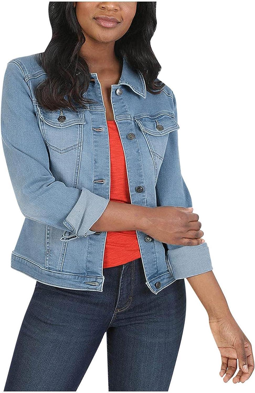 NEEKEY Denim Jacket for Womens Button Pocket Cr Ranking TOP11 Down Max 61% OFF Jean