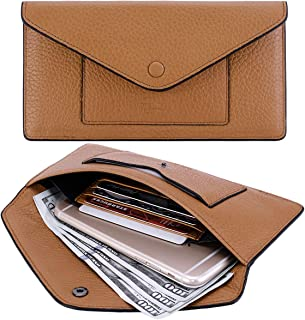 Itslife Women's Wallet Leather RFID BLOCKING Ultra Thin Envelope Purse Travel Clutch with ID Card Holder and Phone Pocket