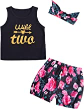 Baby Girls' 3PCS Mommy is My Bestie Outfit Set Short Sleeve Floral Romper