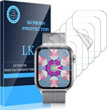LK [6 Pack] Screen Protector for Apple Watch 40mm SE/Series 4/5/6 and Apple Watch 38mm Series 3/2/1- Bubble-Free Scratch-resistant iWatch 38mm/40mm Flexible TPU Clear Film (UF-001)