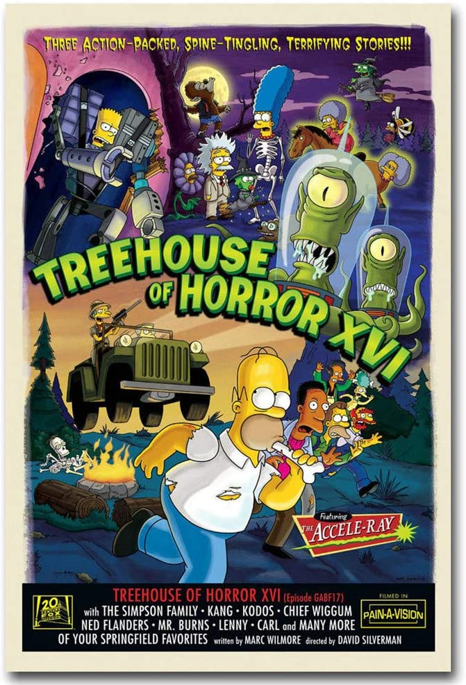 home eating sky simpsons canvas wall art Wood Framed Ready to Hang XXL