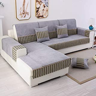 TEWENE Couch Cover, Sofa Cover Couch Covers Sectional Couch Covers Anti-Slip Sofa Slipcover for Dogs Cats Pet Love Seat Recliner 3 Cushione Couch Gray (Sold by Piece/Not All Set)