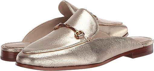 Gold Pebbled Gem Leather