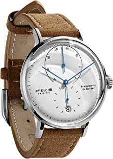 Automatic Watch for Men Bauhaus Watch Mens Mechanical Watch Stainless Steel Domed Mirror Analog Casual Dress Watches Unisex -FM202 (42mm)