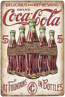 EffortLife Delicious and Refreshing Drink Coca Cola Retro Vintage Bar Signs Tin Sign Vintage 12 X 8 Inch