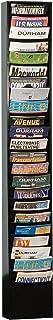 Durham 401-08 Black Cold Rolled Steel 23 Contour Pocket Vertical Literature Rack, 9-3/4