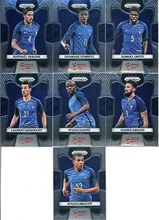 2018 Panini Prizm World Cup Soccer France Team Set of 13 Cards: Paul Pogba(#74), Antoine Griezmann(#75), Alexandre Lacazette(#76), Blaise Matuidi(#77), Hugo Lloris(#78), Kingsley Coman(#79), Kylian Mbappe(#80), Laurent Koscielny(#81), N'Golo Kante(#82), Olivier Giroud(#83), Raphael Varane(#84), Ousmane Dembele(#85), Samuel Umtiti(#86)