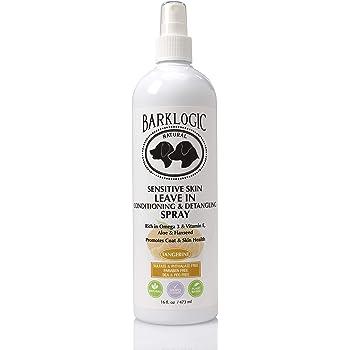 BarkLogic Dogs Leave in Conditioner & Detangling Spray with Essential Oils 16 fl oz | Hypoallergenic, Plant-Based Gentle Formula for Sensitive Skin