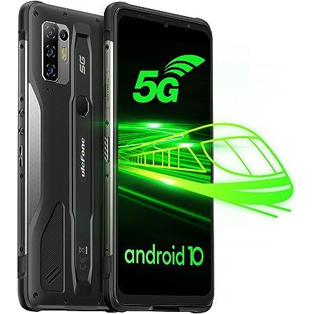 Ulefone Armor 10 5G Móvil Resistentes, 8GB+128GB Android 10 Octa-Core Smartphone Antigolpes, Cámara Quad AI de 64 MP, 6.67''FHD+ IP68/IP69K Teléfono Móvil, Batería 5800mAh, Carga Inalámbrica 15W, OTG