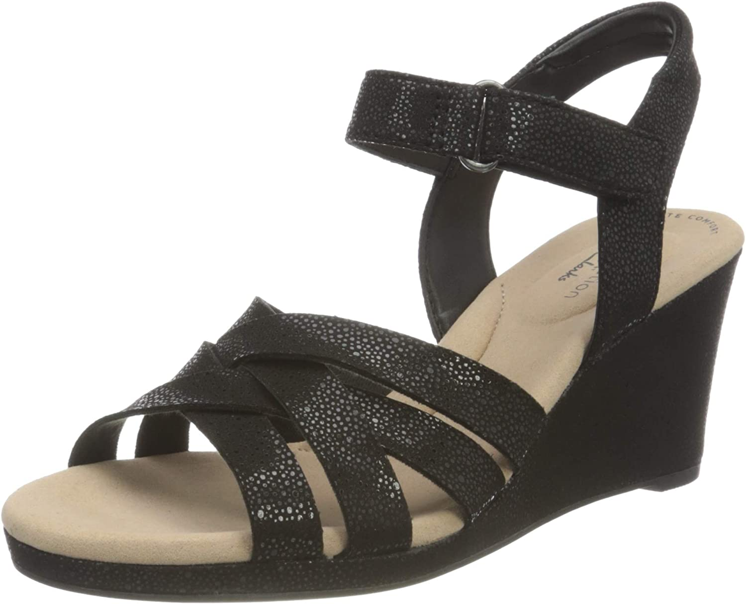 Clarks Women's Max 55% Limited time cheap sale OFF Ankle-Strap Heeled Sandal