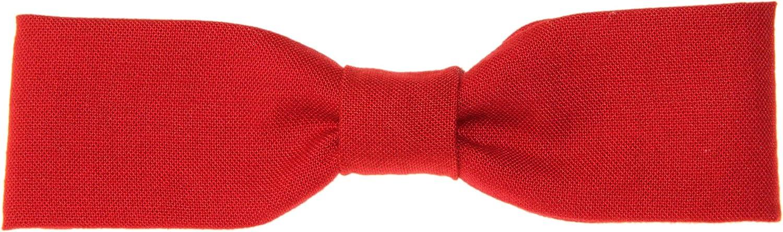 Men's Skinny Slim Rich Red Clip On Cotton Bow Tie