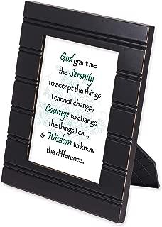 Elanze Designs Serenity Prayer Black 8 x 10 Beaded Board Picture Frame Plaque