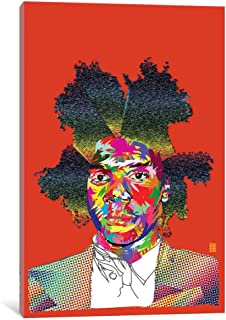 iCanvasART TDR10 Basquiat Gallery Wrapped Canvas Art Print by TECHNODROME1, 12
