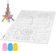 تشک های سه بعدی قلم Gnvtntp ، با الگوهای اساسی 3D نقاشی ، 16.53x11.02 اینچ ، با 2 کلاهک انگشتی دو سیلیکون - تشک قلم سه بعدی عالی برای کودکان
