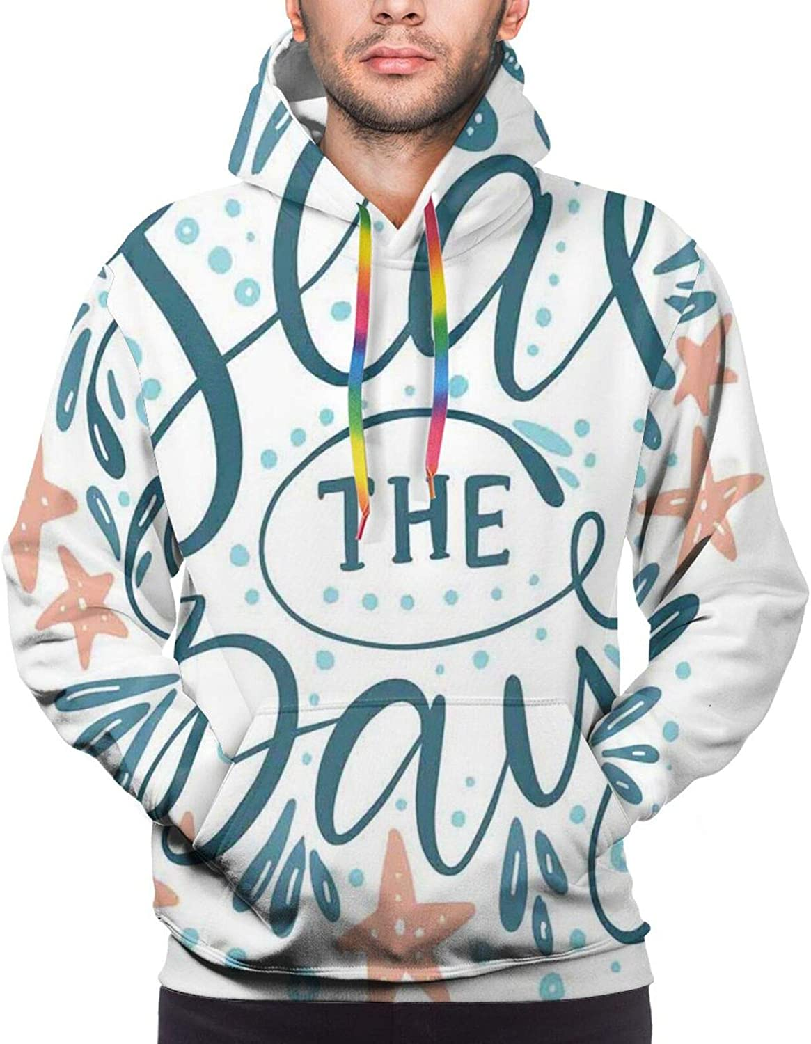 Men's Hoodies Sweatshirts,Searching for Love Girl Holding A Navigation Device Hand Drawn Image Print