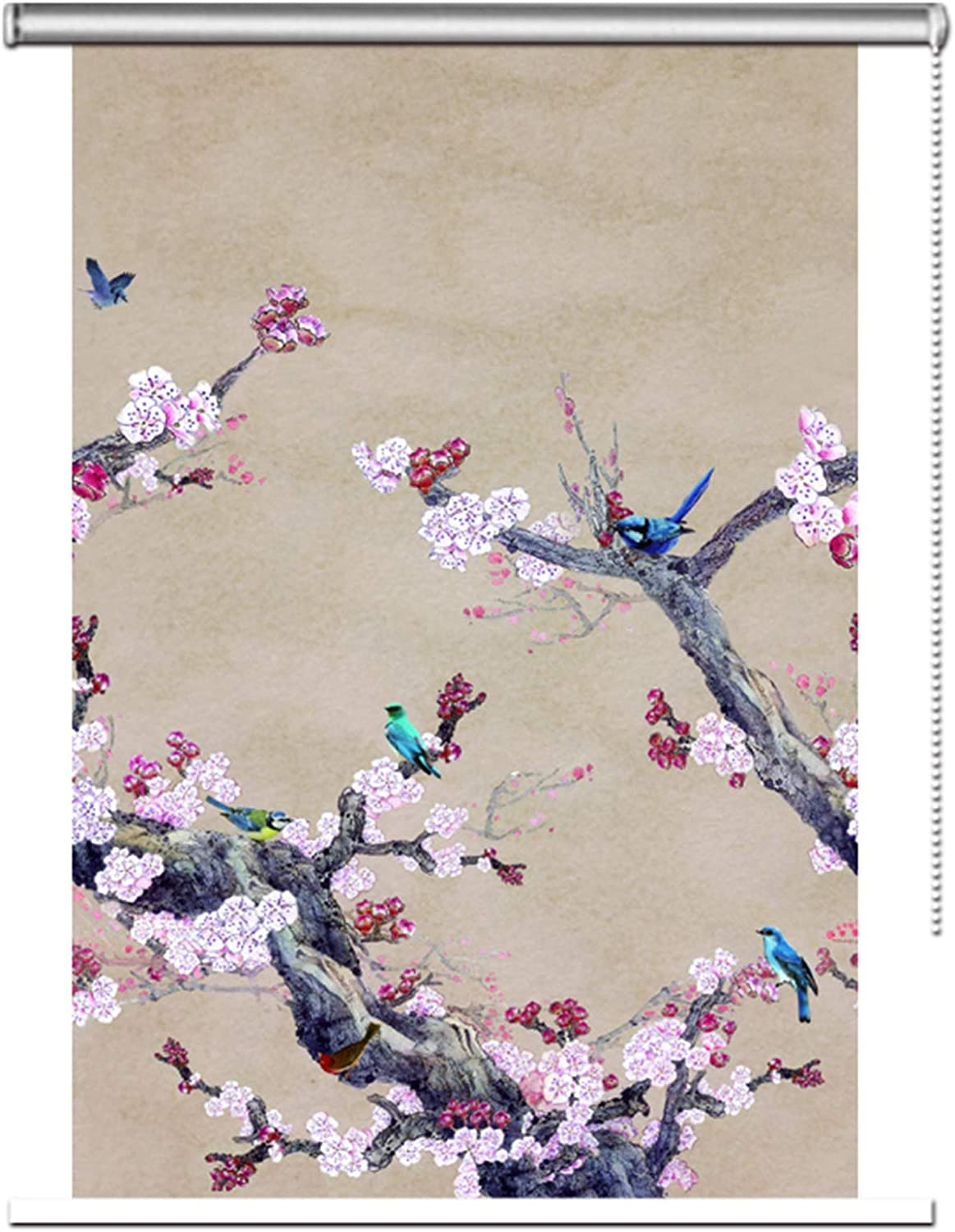 LXLA Plum Blossom Pattern overseas Roller Traditional Oriental in Brand new Blinds