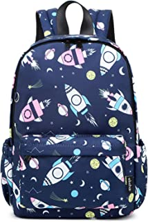 Little Kids Toddler Backpacks for Boys and Girls Preschool Backpack With Chest Strap (Rocket Navy)