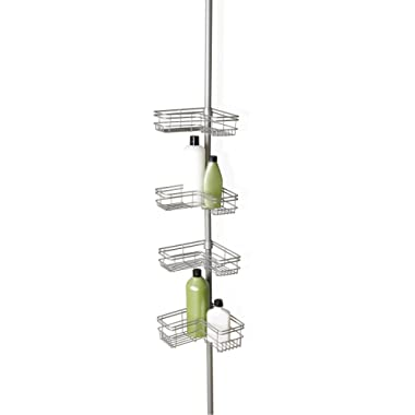 Zenna Home 2130NN Shower Tension Pole Caddy, Satin Nickel