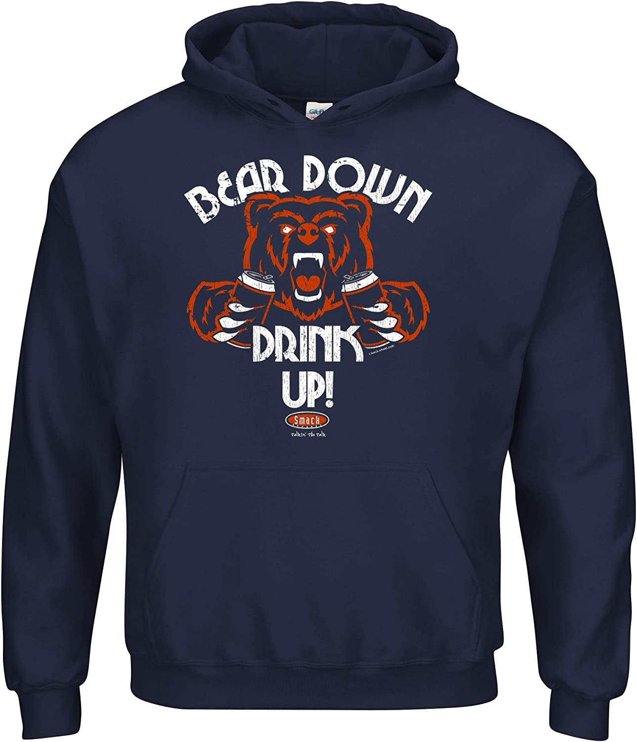 Smack Apparel Chicago Football Fans. Surprise price Down New Shipping Free Shipping T-Shirt Up Bear Drink