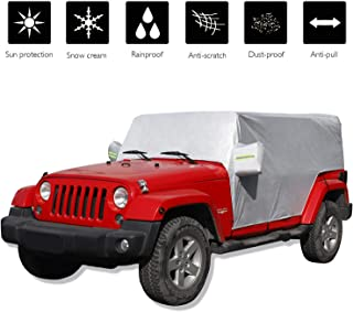 Over Installed Top 1-Year Warranty iiSPORT Water-Resistant Jeep Wrangler JK Unlimited 2 Door Cab Cover 100/% UV Protection Breathable SUV Car Cover Fit 2007-2018 Models