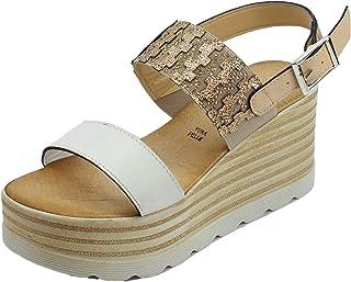 9c00f684df Amazon.it: Scarpe Con Zeppa A - Mercante di Fiori / Scarpe da donna ...