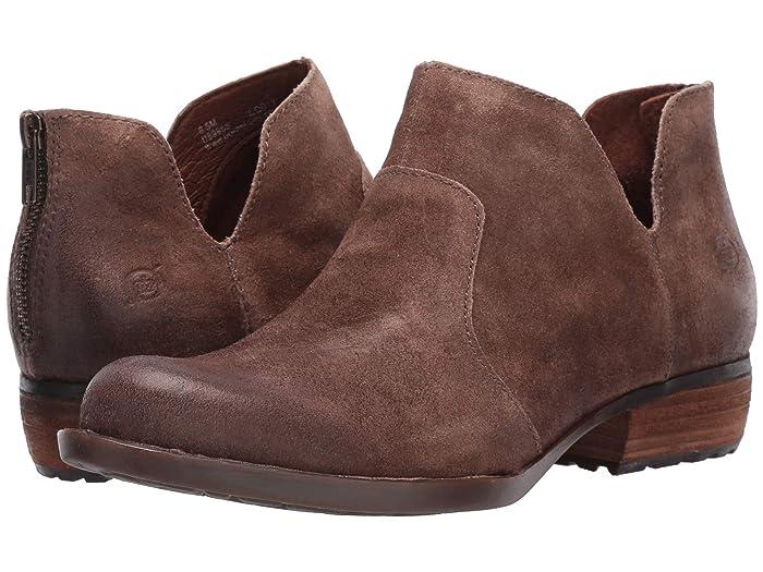 Born  Kerri (Taupe Distressed) Womens Dress Zip Boots