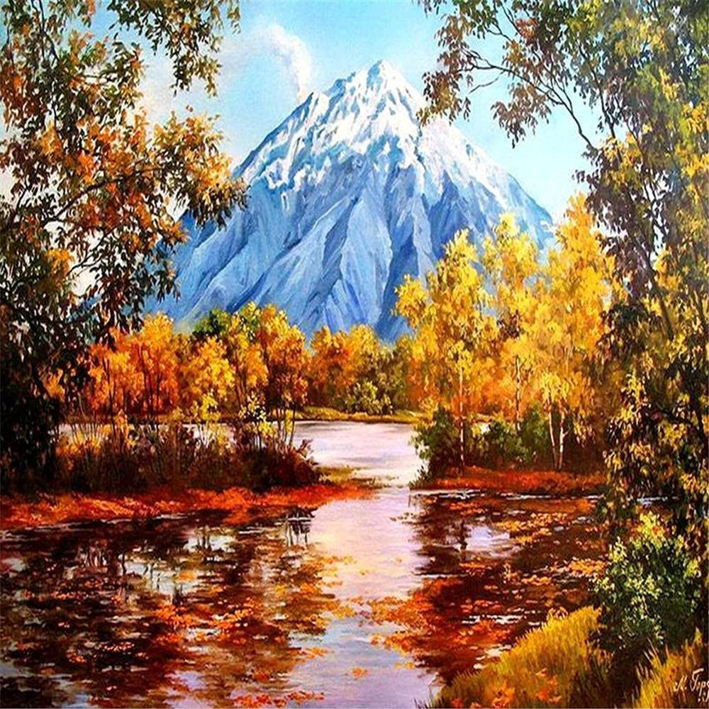 5D New Shipping Free Shipping DIY Diamond Painting Kits Large Scener Drill Full Autumn Sale Size