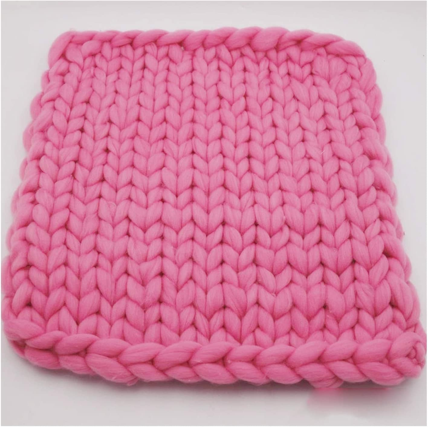 YXYH Chunky Credence Atlanta Mall Knit Blanket Hand Knitted Thick Yarn Knitting Throw