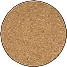 Round Shape Sisal Carpet Hemp Pad Living Room Coffee Table Bamboo Area Rug Carpet Bedroom Balcony Linen Mat, Customizable...