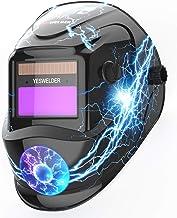 YESWELDER True Color Solar Powered Auto Darkening Welding Helmet, Wide Shade 4/9-13 for..